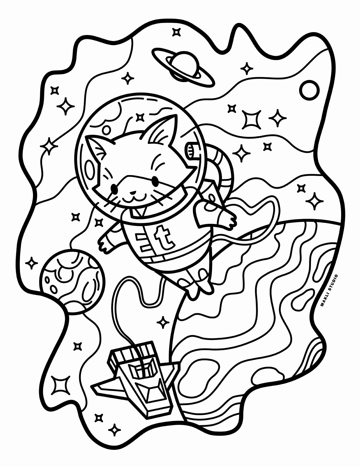 Coloring Pictures Of Space Elegant Aesthetic Space Tumblr Coloring Pages Kesho Wazo In 2020 Space Coloring Pages Planet Coloring Pages Tumblr Coloring Pages