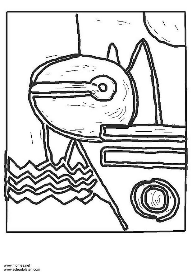 Art coloring pages from famous paintings and artists