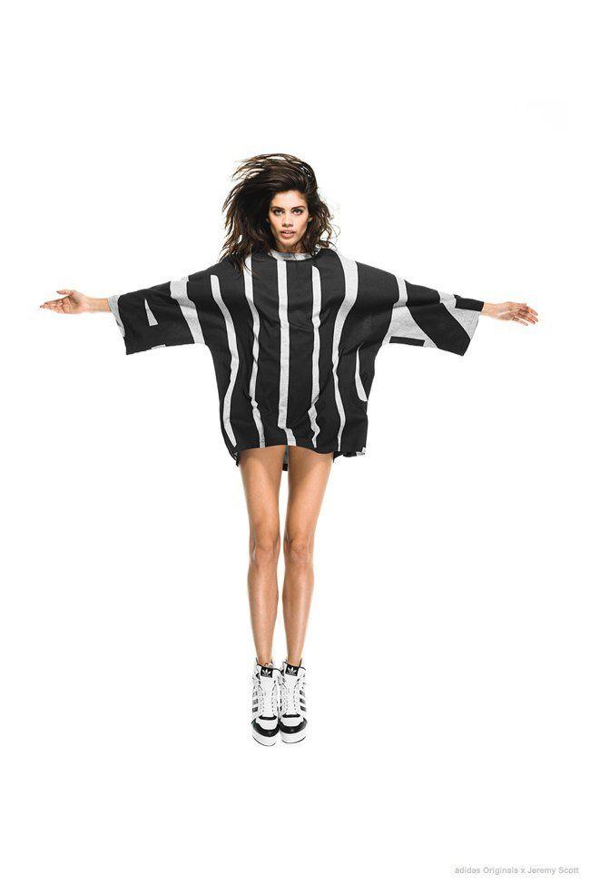 Sara Sampaio Poses for adidas Originals by Jeremy Scott FW
