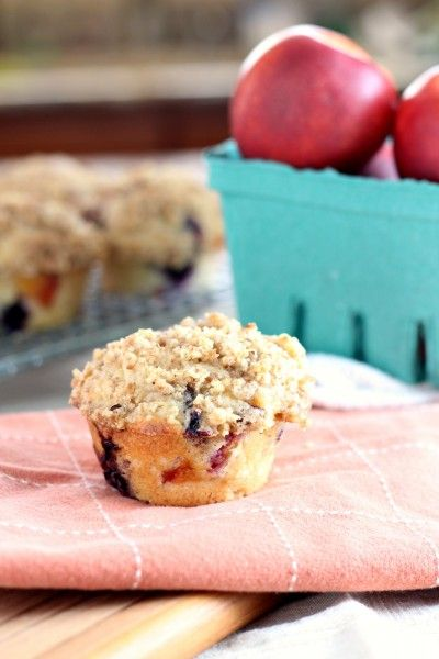 Nectarine-Blueberry Muffins with
