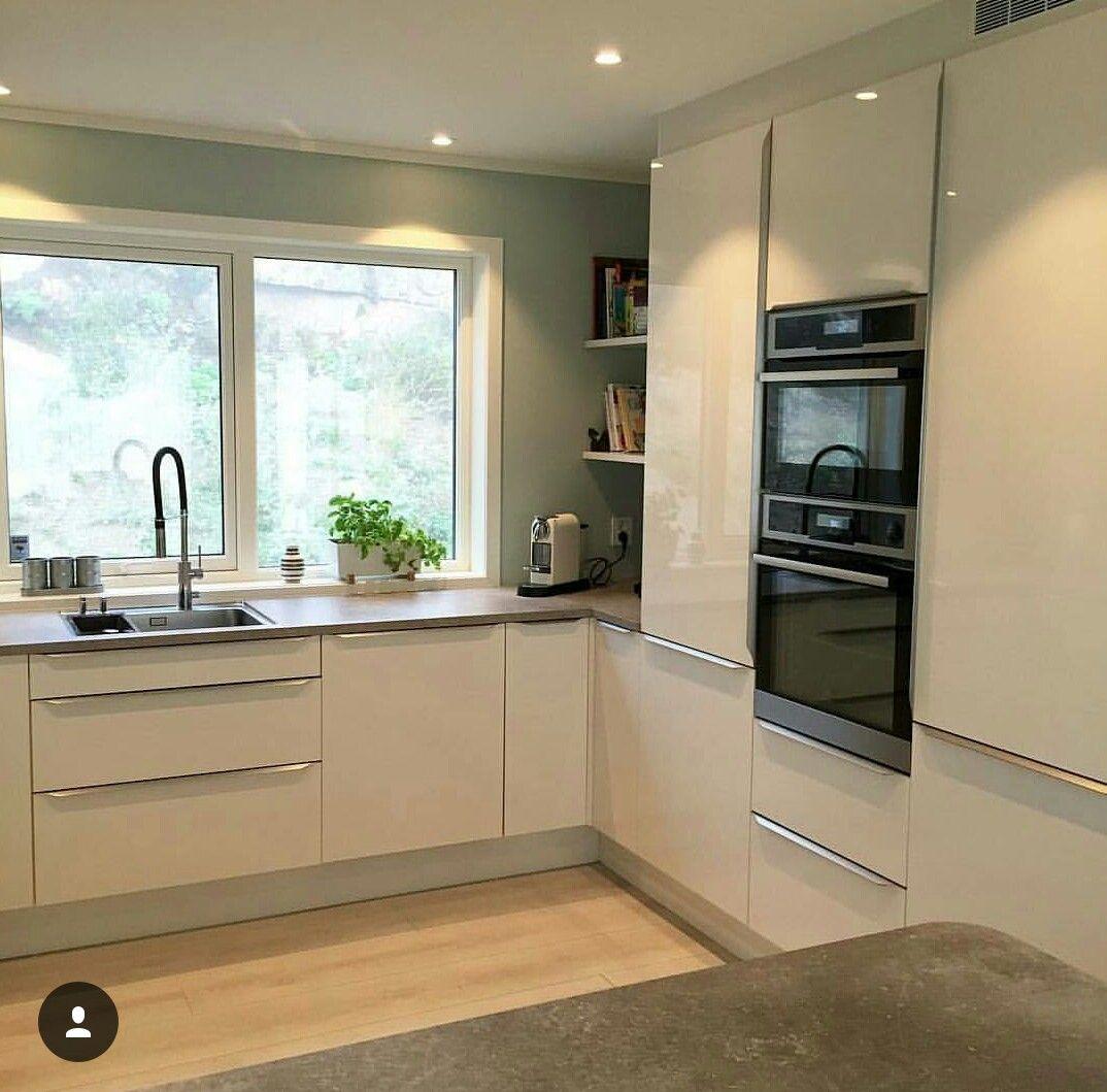 cuisine blanc avec un sol beige | Cuisine | Pinterest | Nest