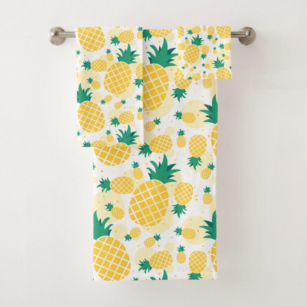 Fresh Pineapple Bathroom Towel Set Zazzle Com Towel Set Diy Bathroom Decor Custom Towel Pineapple bathroom wall decor