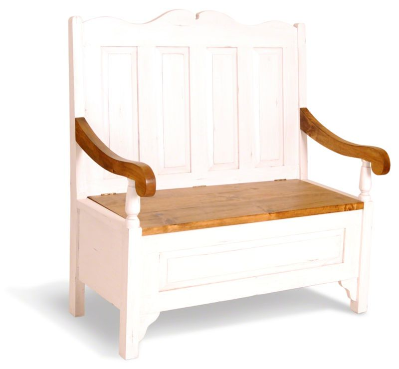 Provence Painted Pine Monks Bench