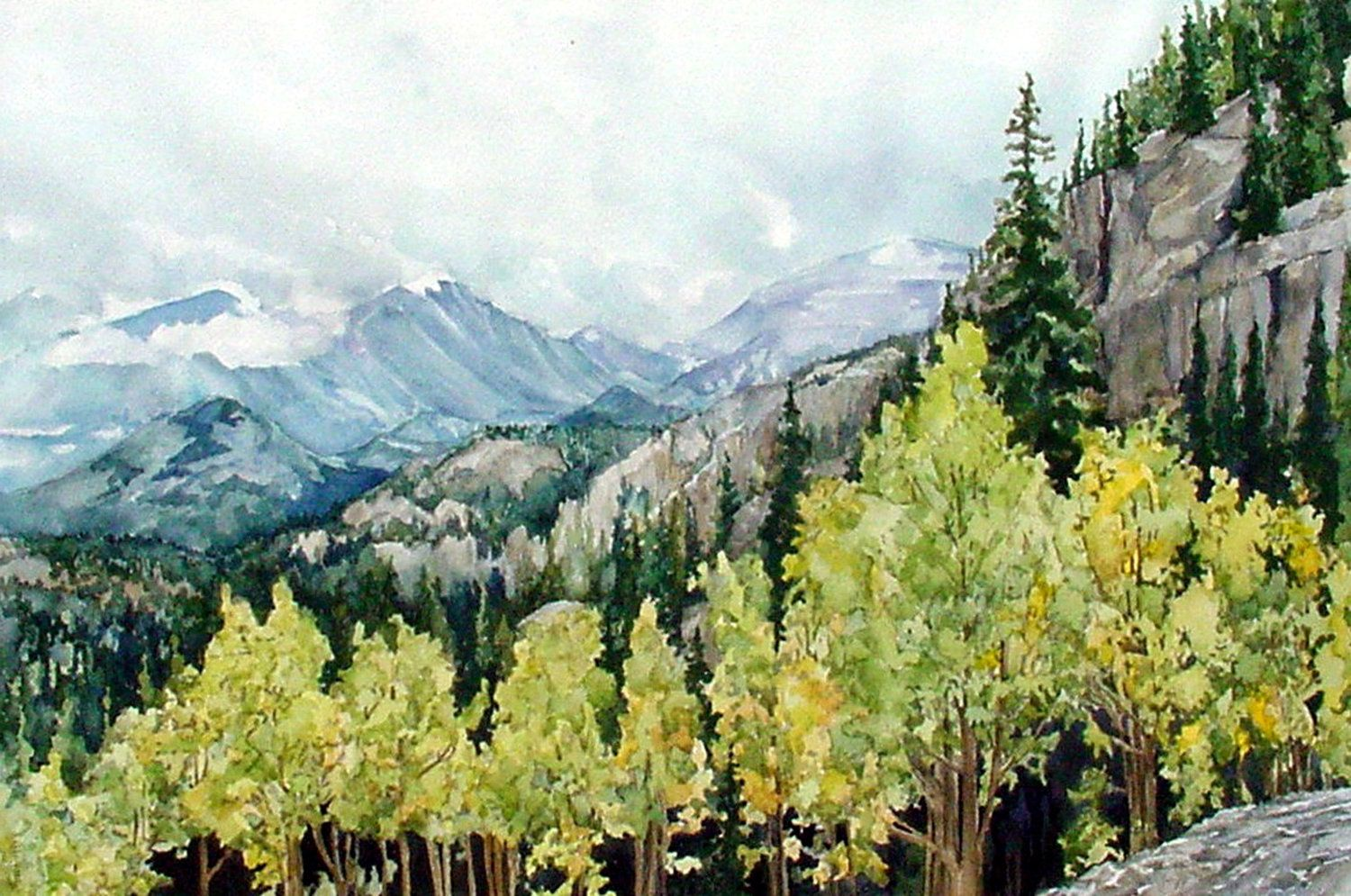 Rocky Mountain Aspens in Rocky Mountain National Park by