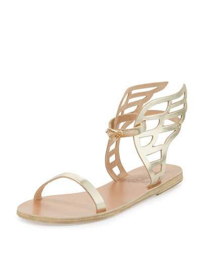 Wing In Ancient Gold Leather Flat 2019Products Ikaria Sandal ordCxeWB