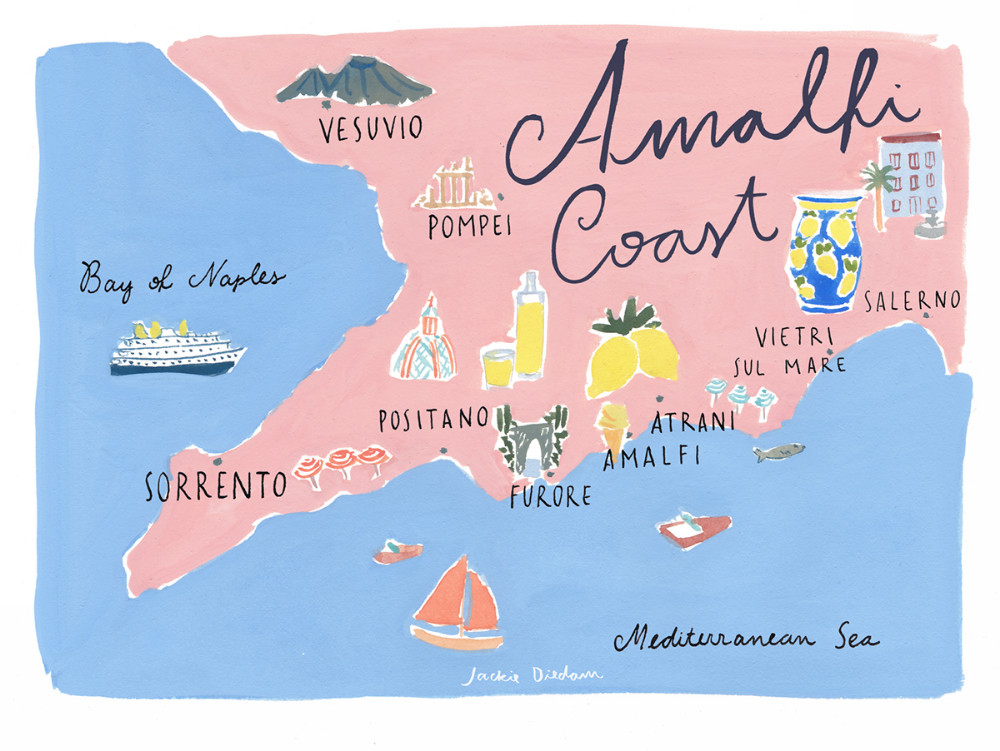 Tour Costiera Amalfitana Cartina.Costiera Amalfitana Outline Map Cerca Con Google Costiera Amalfitana Guida Di Viaggio Amalfi
