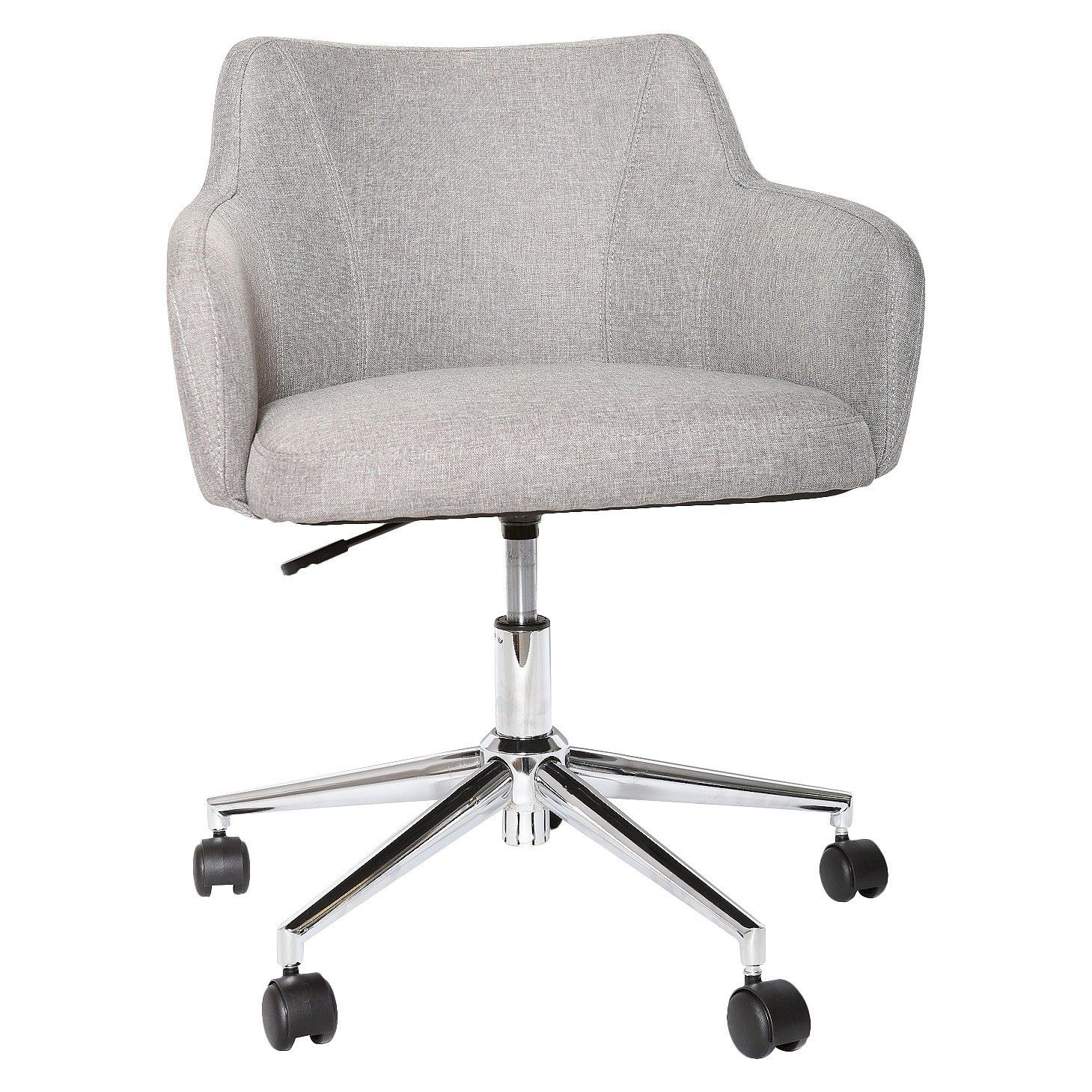 Room Essentials Office Chair Upholstered Grey Linen Stylish Office Chairs Upholstered Office Chair Office Chair