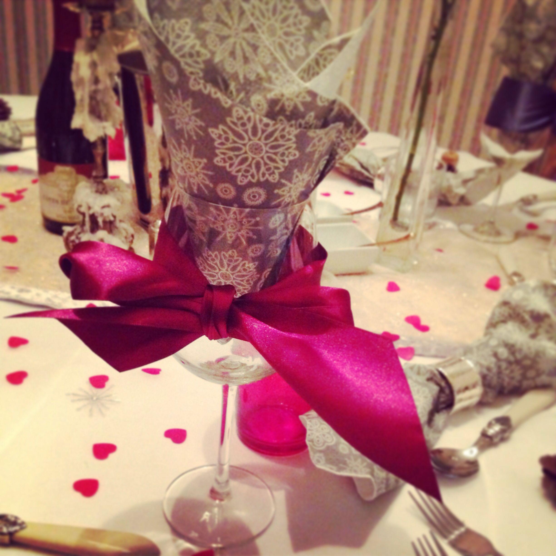 Luxury ribbon glasses