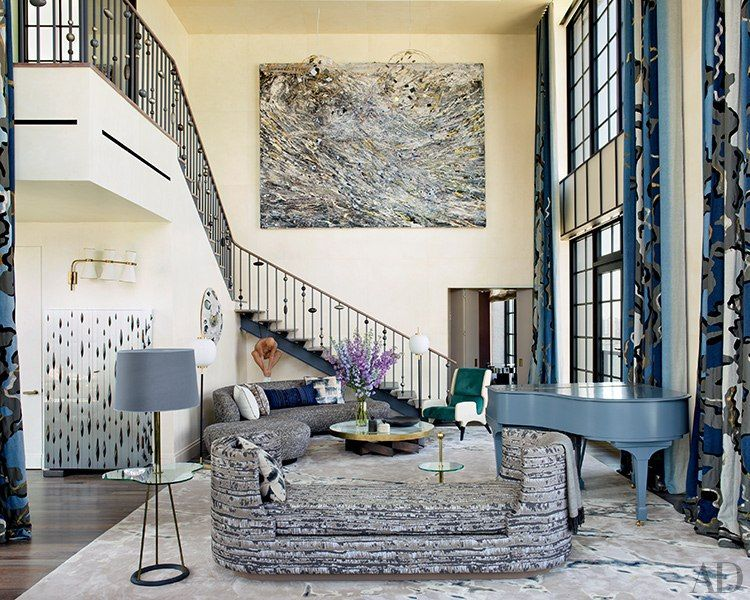 See Why This ArtFilled Penthouse In New York City Is So Desirable Inspiration Living Room International Painting