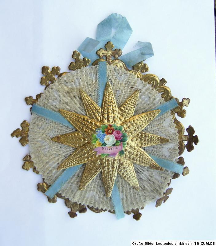 Cotillon Orden Christbaumschmuck Um 1880 1890 Stern 1506 11