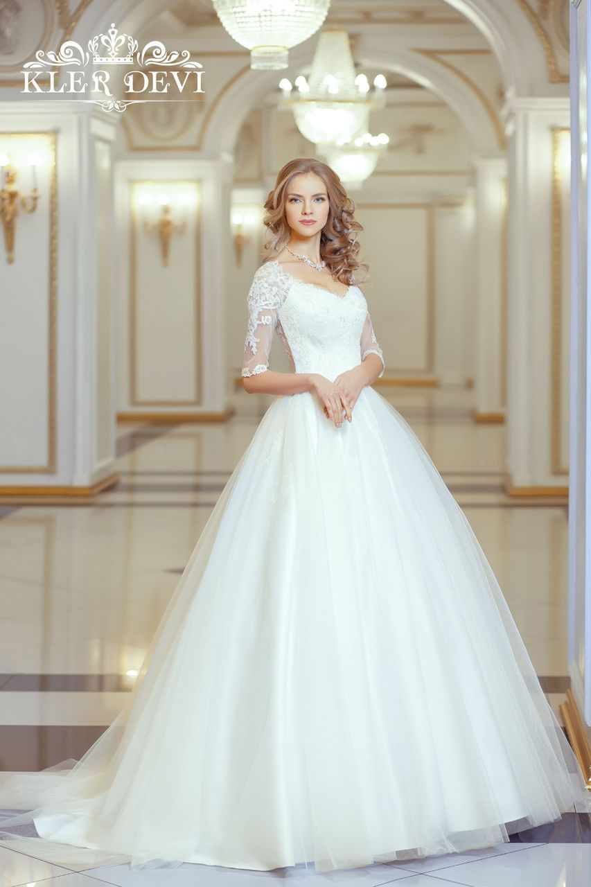Long lace sleeve wedding dress  Свадебное платье Kler Devi Mia Bella Collection Allegra  vestidos