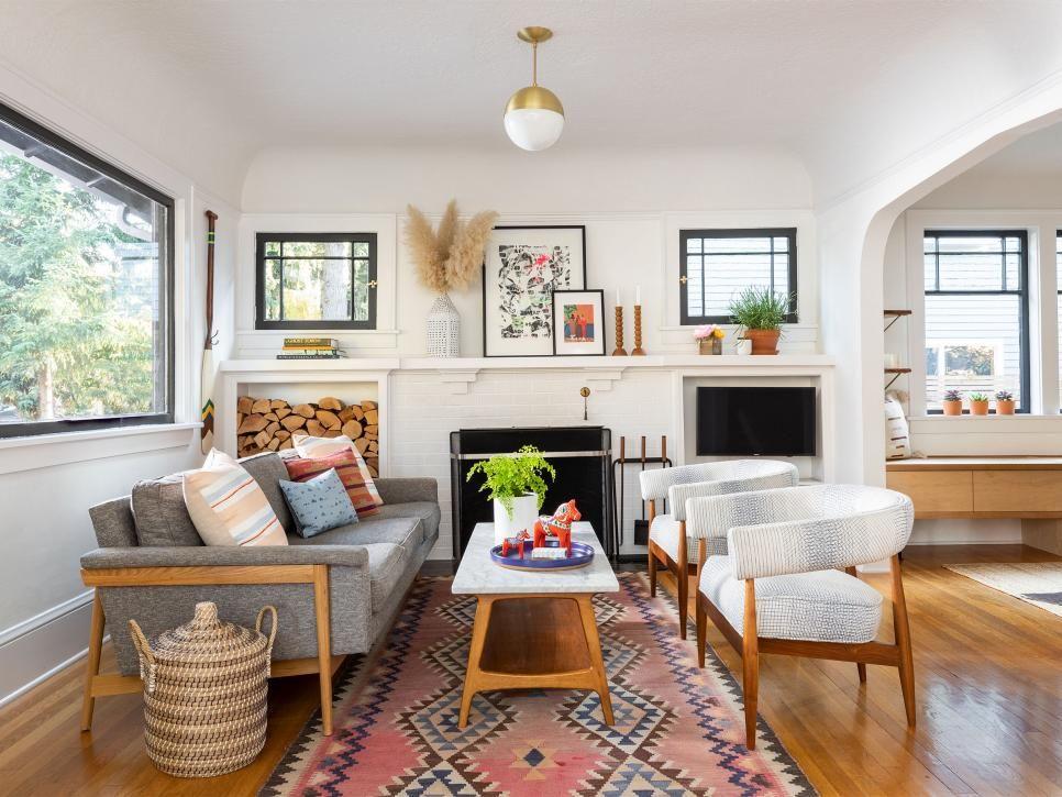 35 Living Room Looks We Re Loving Now Hgtv Bungalow Living Rooms Living Room Scandinavian Bungalow Interiors