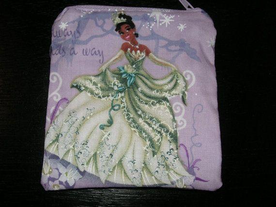 Princess Aurora Sleeping Beauty handmade zipper fabric coin change purse card holder
