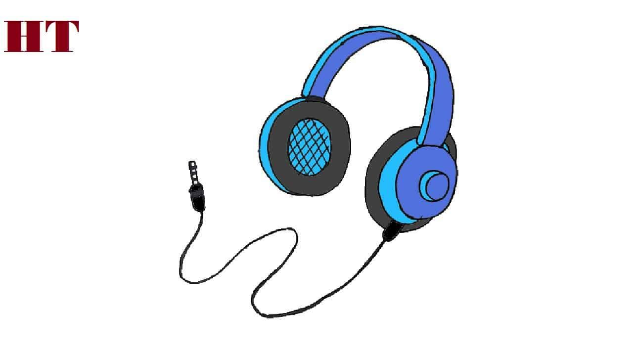 How To Draw Headphones Step By Step In 2020 Headphones Drawing Easy Drawings For Beginners Drawing For Beginners