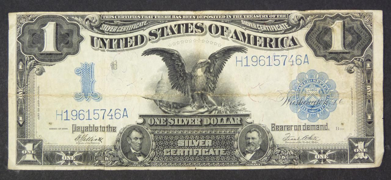 Us One Dollar Bill 16 1899 A 1 One Dollar Silver Certificate