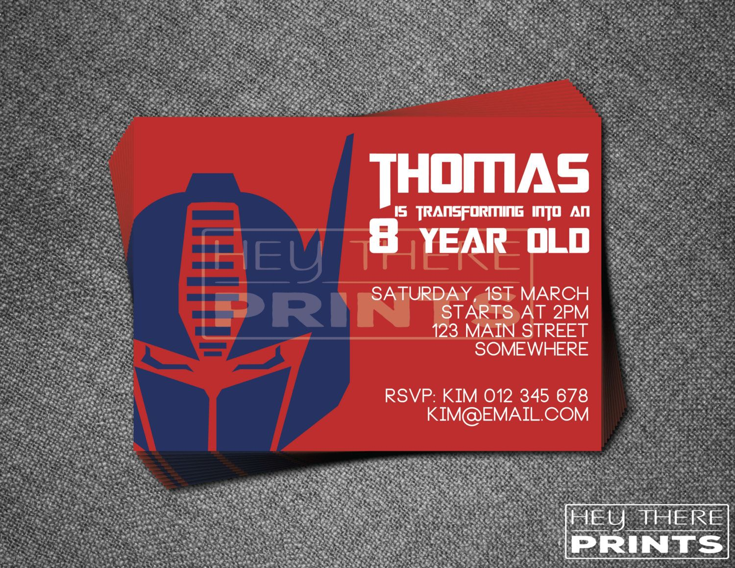 Optimus Prime Invitations | Birthdays- Transformers | Pinterest