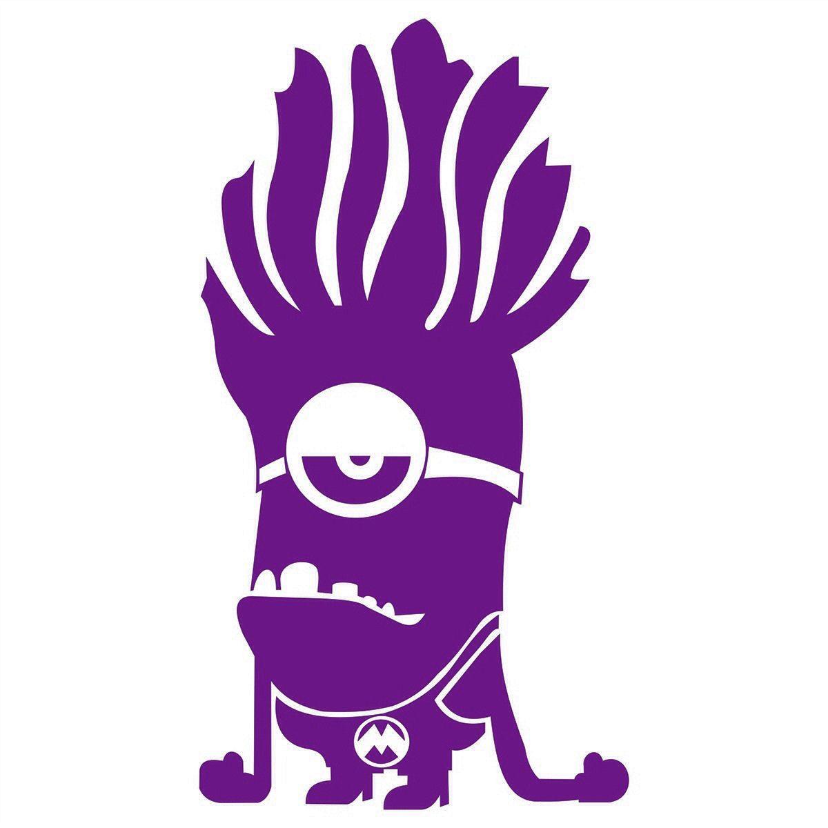 Purple Minion Anchor Monogram Siluetas Vinilos Manualidades