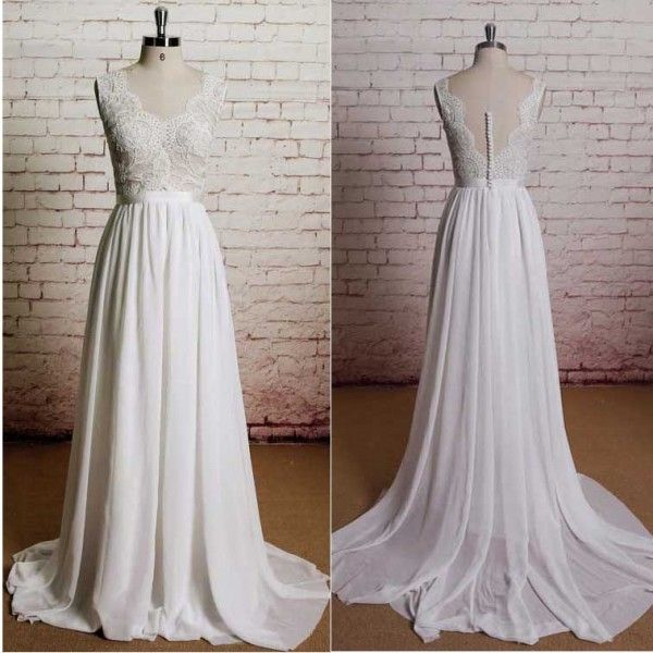 Outlet Beach Wedding Gown, Outlet Lace Wedding Dress, Outlet Chiffon ...