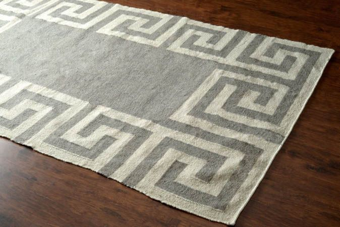 Tuscan Indoor Outdoor Flatwoven Greek Key VS120 Grey Rug | Contemporary Rugs