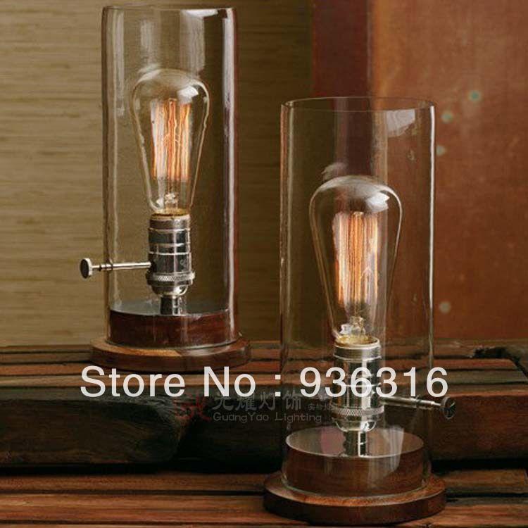 Versandkostenfrei E27 60w Edison Birne Lampe Vintage Glasabdeckung
