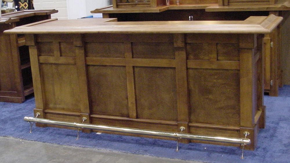 Custom Built Home Bar 8 Foot #Handmade
