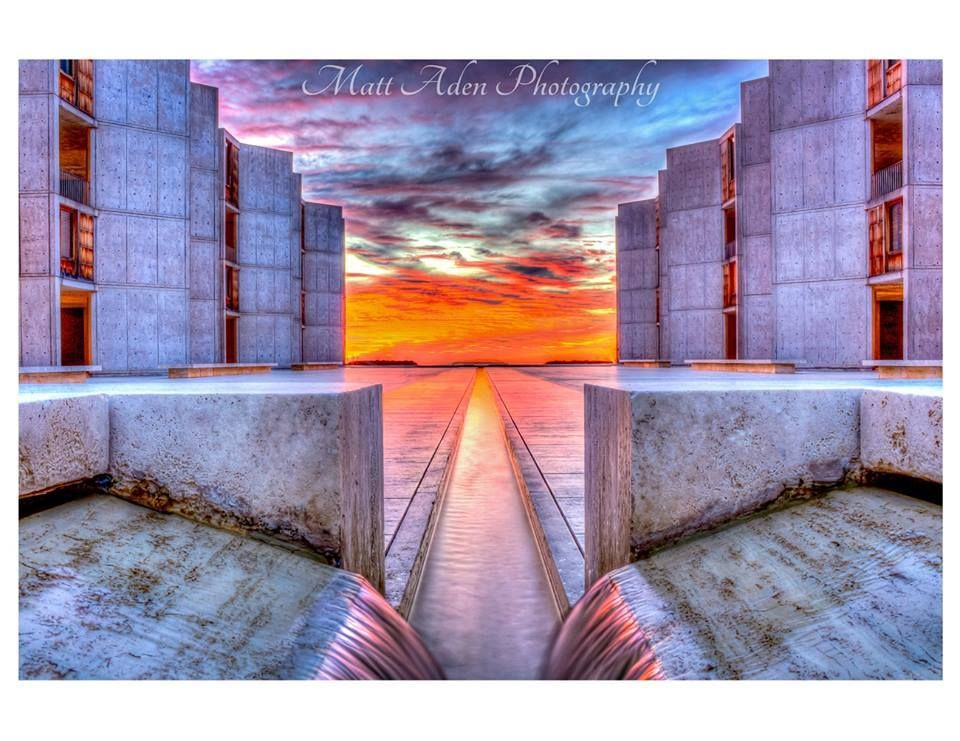 Salk Institute is one of the most unique pieces of architecture in San Diego. This shot was taken and edited by Matt Aden Photography.