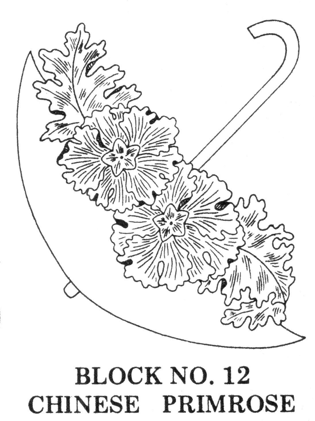 Umbrella Bouquets Embroidery Applique Stickerei