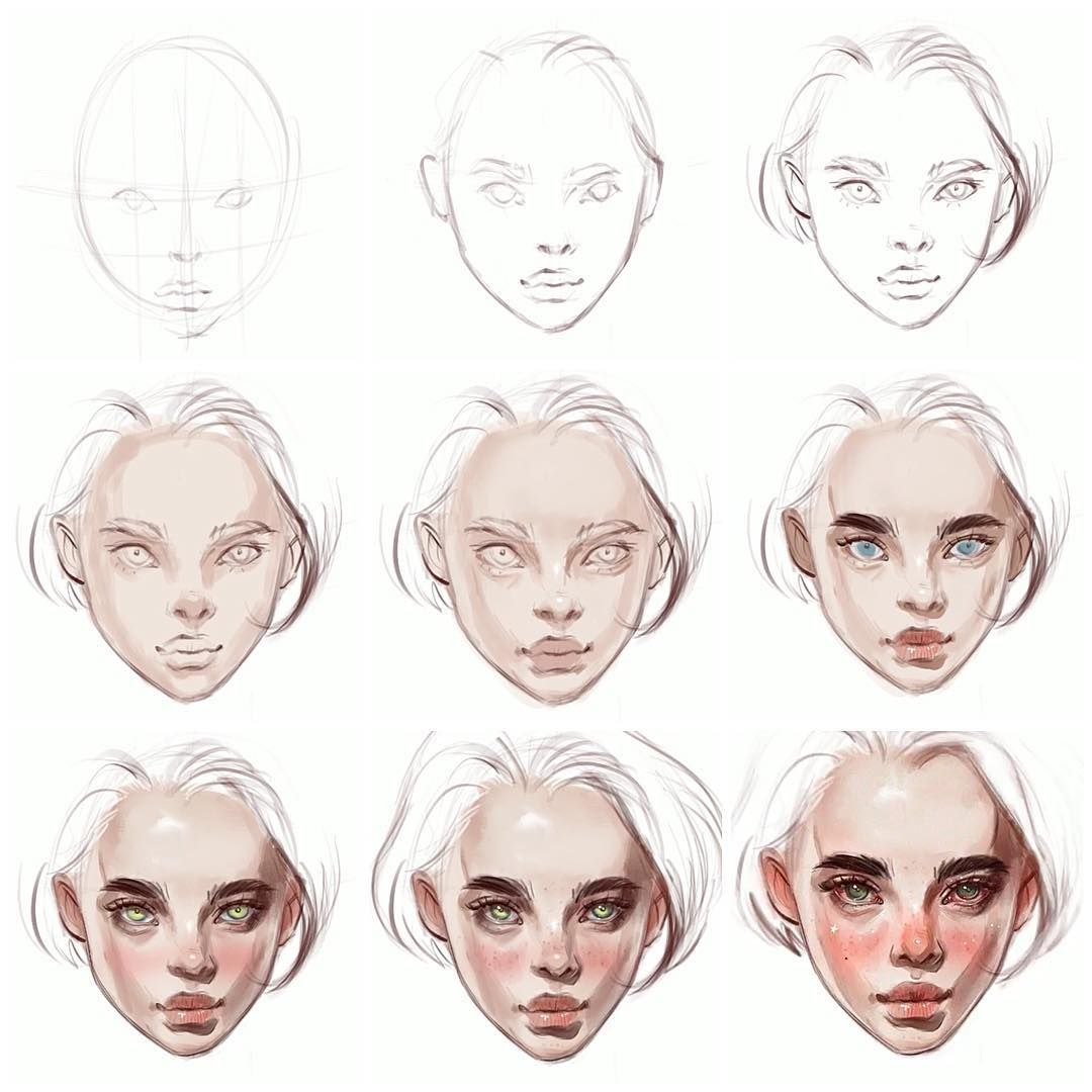 How To Draw A Face In Procreate