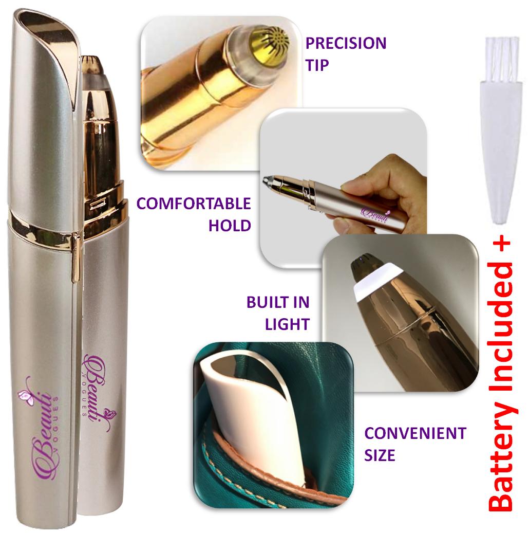Best Painless Electric Eyebrow Hair Remover Mini Eyebrow ...