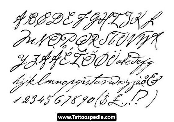 Tattoo Cursive Fonts 02 Tattoo Cursive Fonts 02