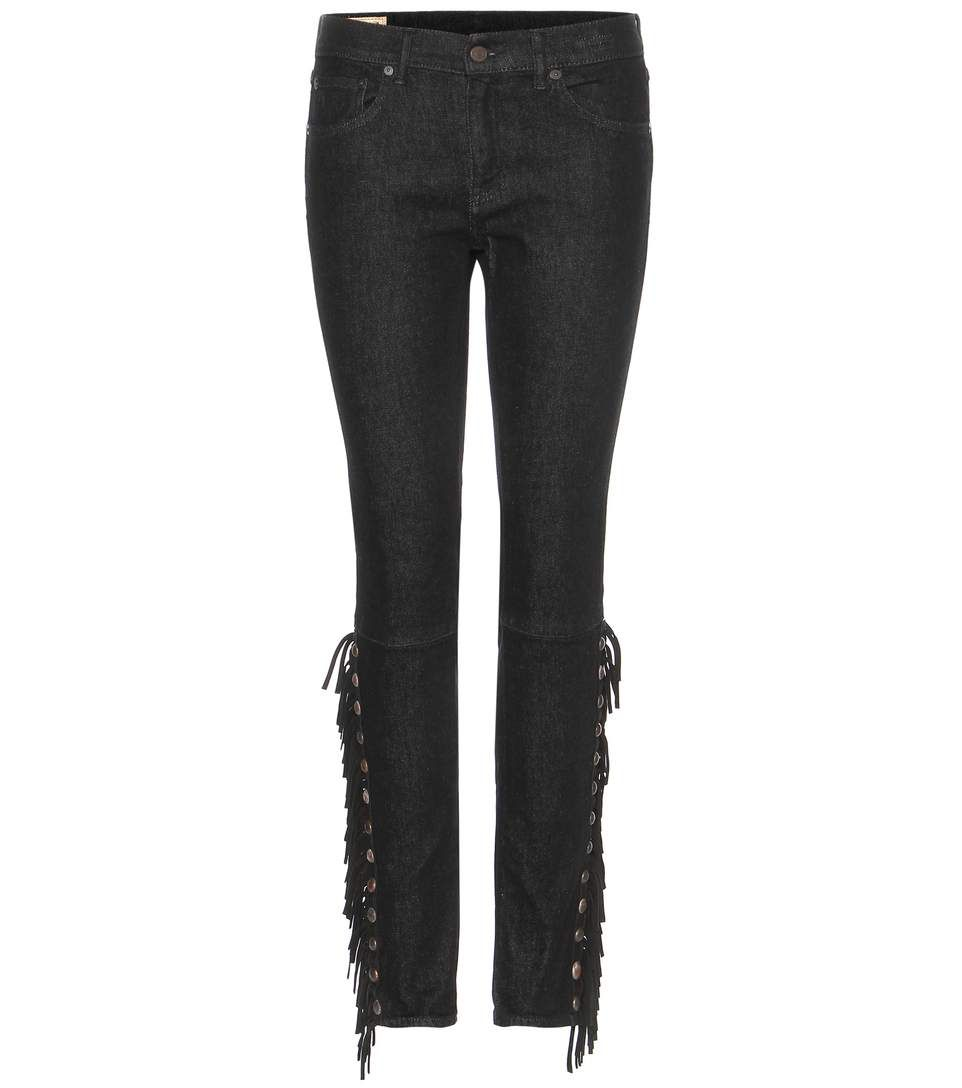 POLO RALPH LAUREN Tompkins Fringed Skinny Jeans. #poloralphlauren #cloth #trousers