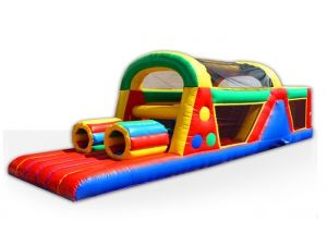 This obstacle course and bounce house is awesome!!! And the whole family can play as it is commercial grade!