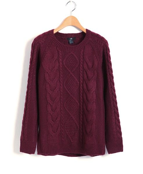 wine colored cable knit $54 | Under $100 | Pinterest | Cable ...