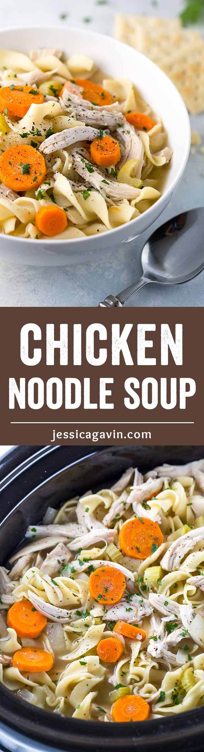 crockpot chicken noodle soup  recipe with images