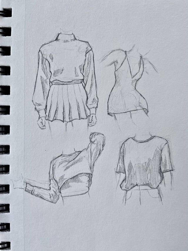 Photo of Graphite clothing sketches