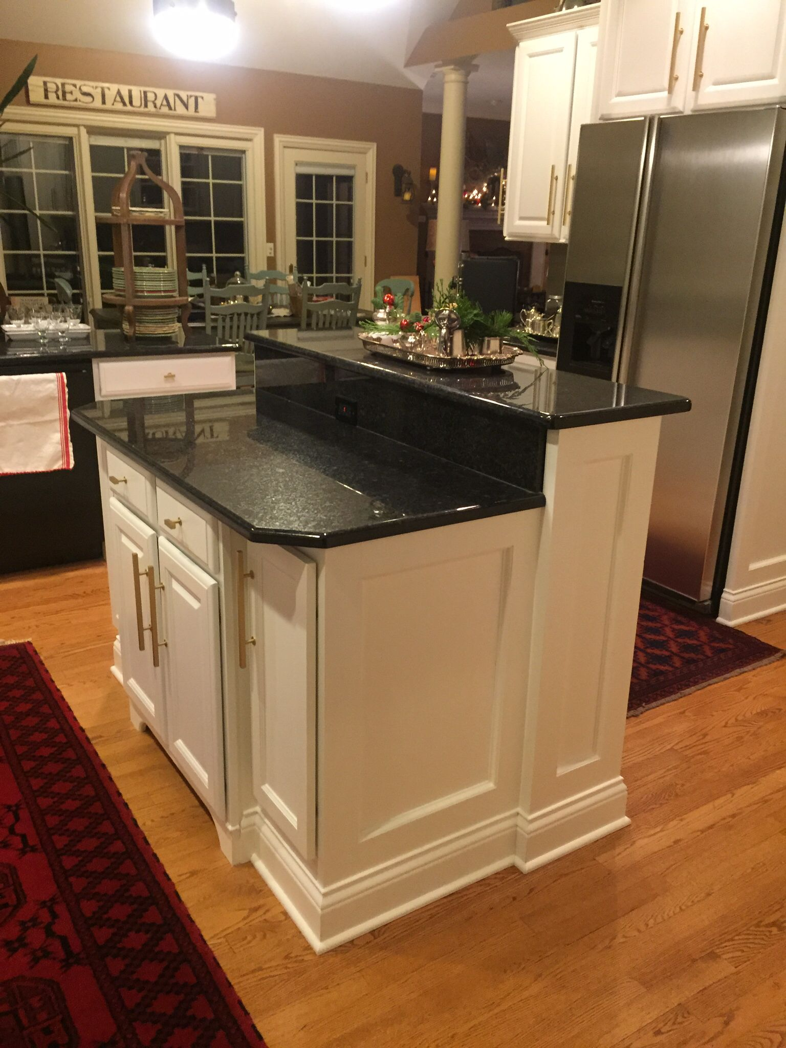Two Tiered Island Total Update Kitchen Remodel Small Small Modern Kitchens Kitchen Island With Seating