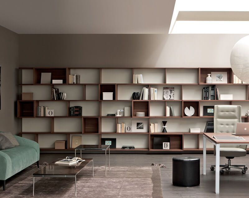 biblioth que modulable murale contemporaine pour. Black Bedroom Furniture Sets. Home Design Ideas