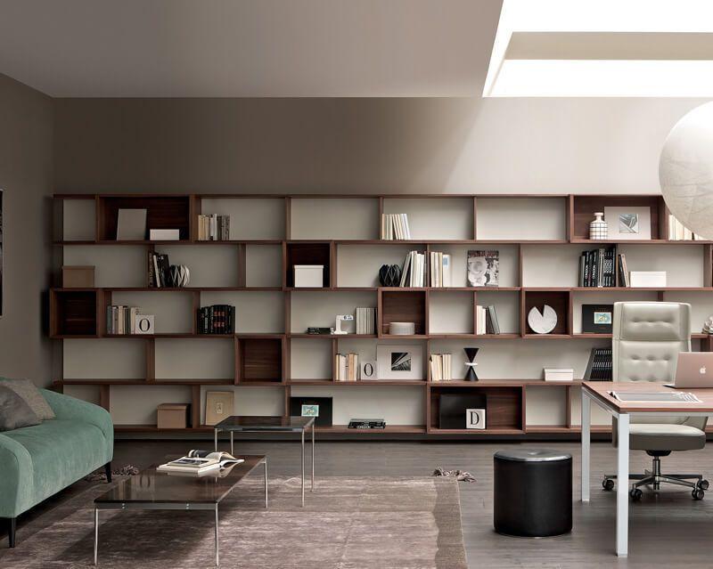 biblioth que modulable murale contemporaine pour bureau e wall by alberto stella estel. Black Bedroom Furniture Sets. Home Design Ideas