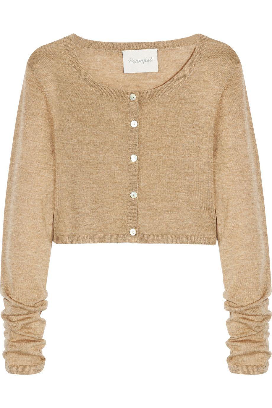 Crumpet | Cropped fine-knit cashmere cardigan | NET-A-PORTER.COM ...