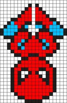 Spiderman Perler Bead Pattern / Bead Sprite   Crochet