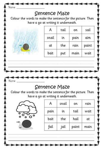 Phonics Phase 3 Sentence Mazes Phonics Activities Phonics Lessons Phonics Worksheets