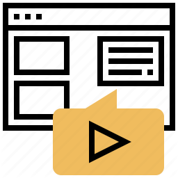 Content Movie Online Video Website Icon Download On Iconfinder Website Icons Icon Online