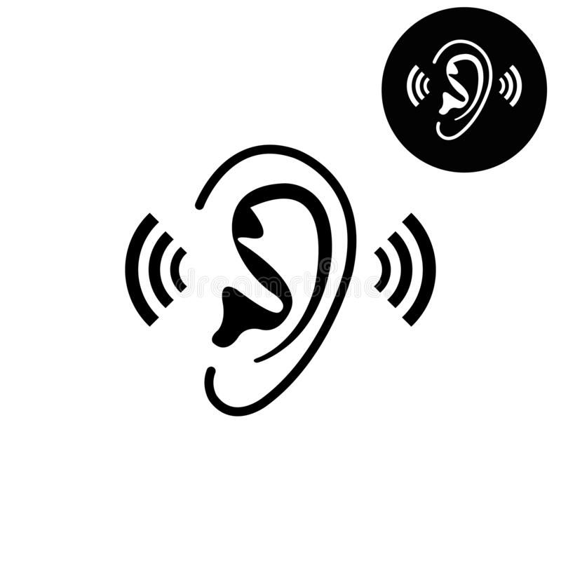 Ear White Vector Icon Ear Vector Design Icon Or Logos For Business Web Affiliate Vector Icon Ear White Busi Vector Icons Ear Art Vector Design