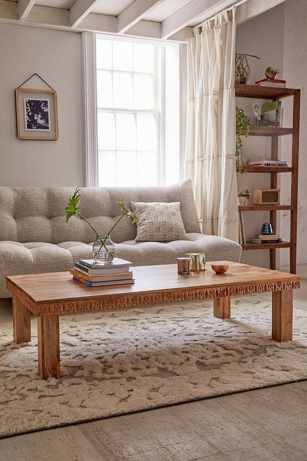 Ul Li Beautifully Crafted Coffee Table Made From Solid Mango