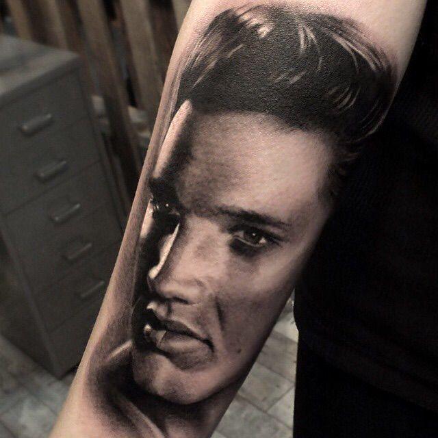Tattoo Ideas Elvis: Realistic Elvis Presley Tattoo.