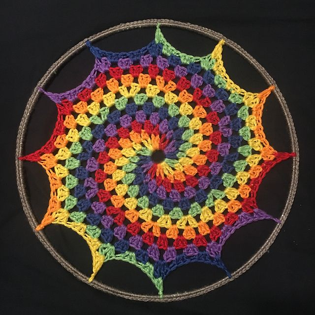 Rainbow Granny Spiral Sun-Catcher pattern by Jaime Ramsey ...