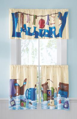 Laundry Room Curtains On Pc Café Curtain Set