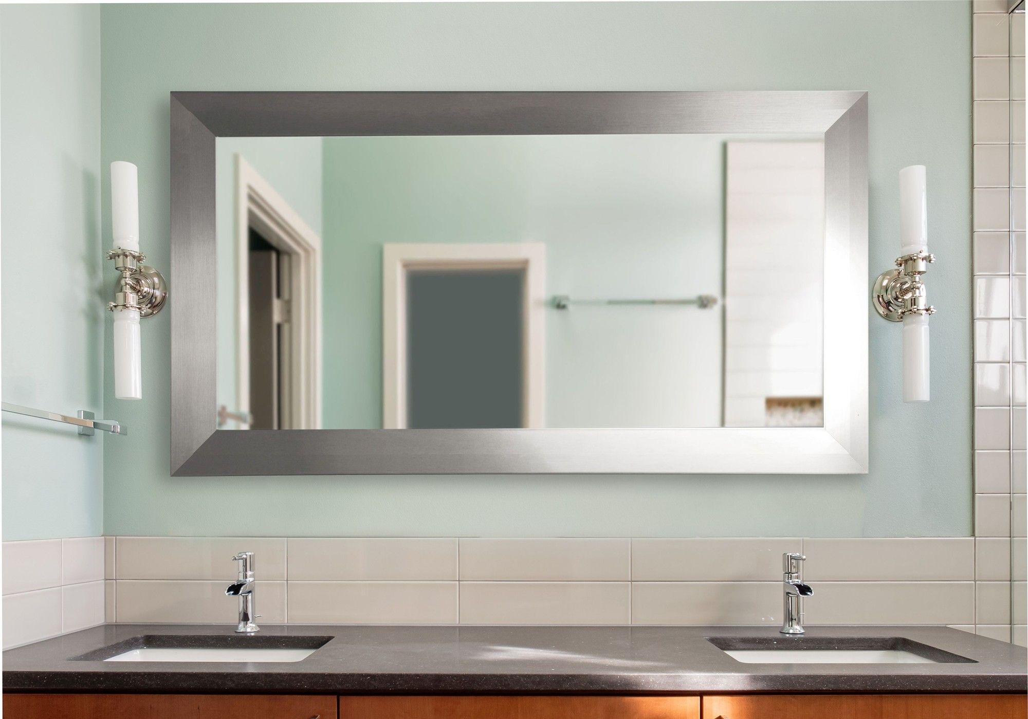Double Wide Vanity Wall Mirror