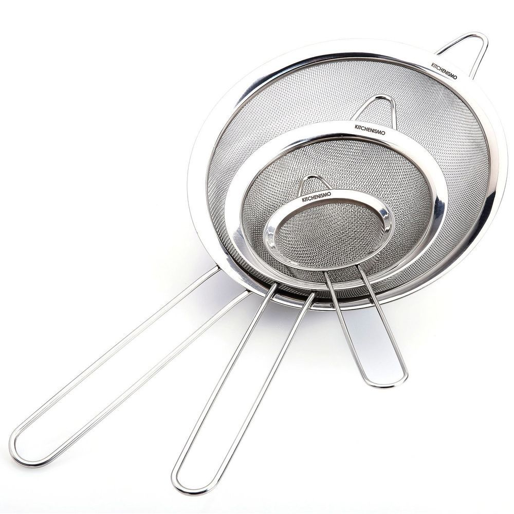 Stainless Steel Round Strainer Mesh Strainer High Quality Set Of 5