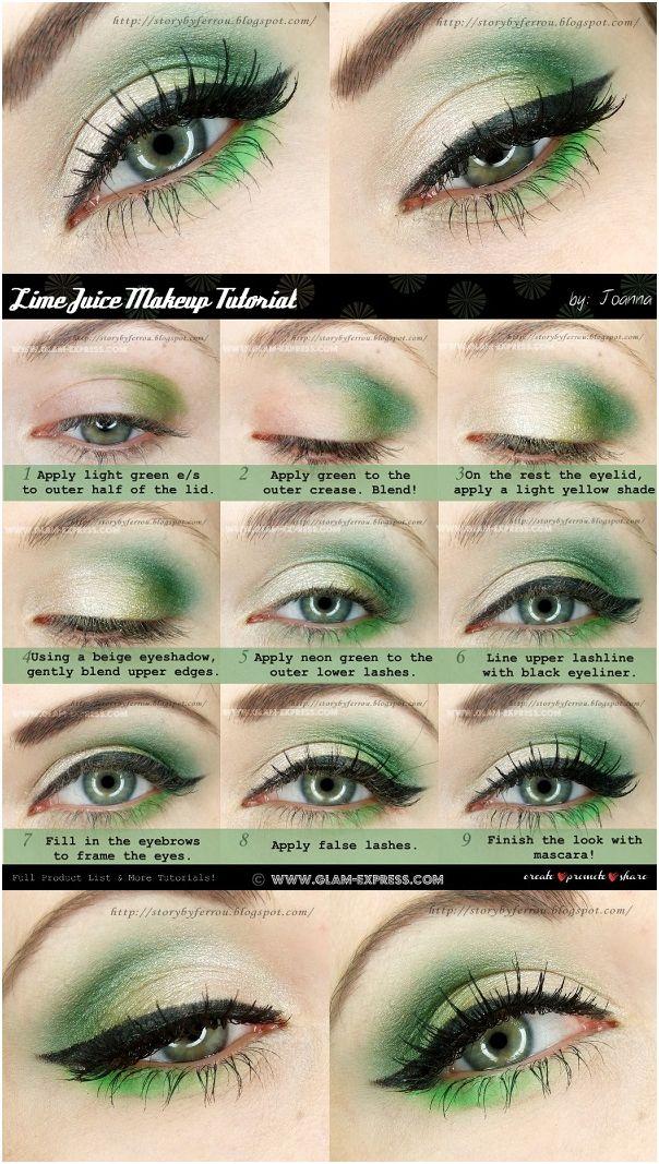 Lime Shaded Amp Neon Green Refreshing Eyes Makeup Tutorial